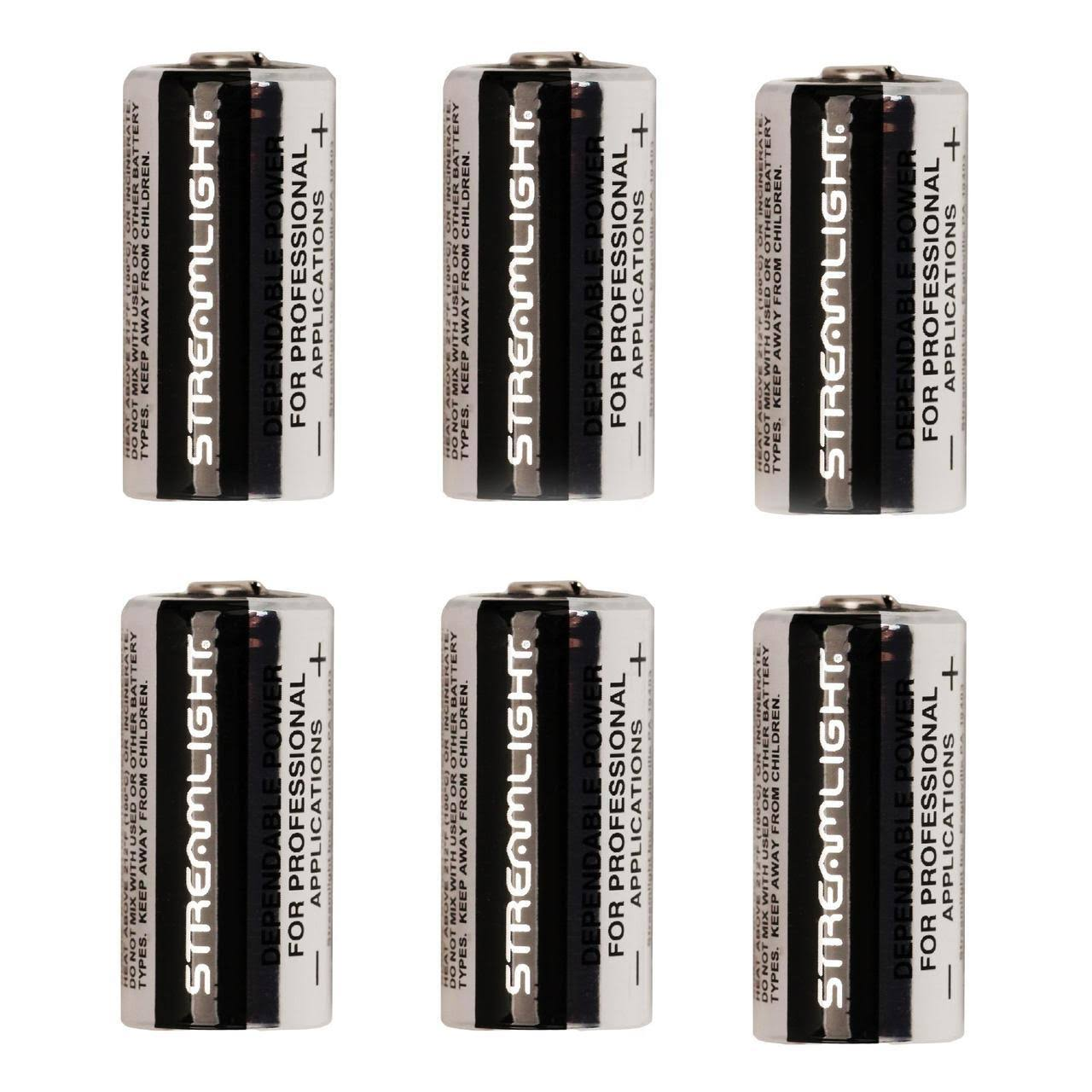 Streamlight Cr123A Replacement Lithium Flashlight Batteries - 6pk