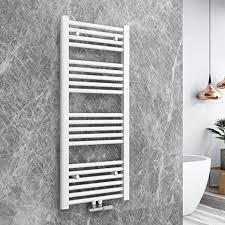 bath mann heizkörper badheizkörper handtuchhalter für heizung handtuchtrockner bad mittelanschluss handtuchwärmer horizontal 100x40cm weiß