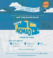 NOMAD Food Truck App - Posts | Facebook Launching Today Where The Trucks At App Helps Ios Users Locate Introducing React Food Truck Burke Knows Words Pizza Fresh On Pantone Canvas Gallery Food_truck_app Espsofttech Wheres The Beef Design Behance September 26 2018 Stockholm Sweden Portrait Of Gabriella Mannik Tracker Uxui Ashley Romo Truckit Concept Apps Google My Appmyfoodtruck Twitter Portfolio Morgan Dipietro