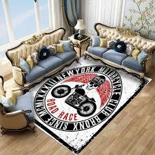 3d anti slip teppiche fußmatten wohnzimmer schä motorrad