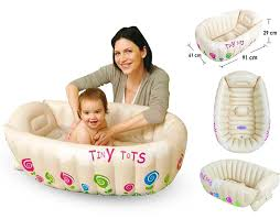 Portable Bathtub For Adults Australia by Tiny Tots Baby Infant Travel Inflatable Bath Tub Cream Colour