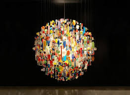 Magnificent Modern Colorful Chandelier With Chandeliers From Old Things Designs Stuart Haygarth