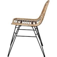 rattan esszimmerstuhl retro style esszimmer küche sessel stuhl küchenstuhl