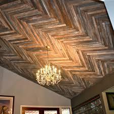 100 Wood On Ceilings MakeMePrettyAgain Reclaimed Herringbone Pattern Ceiling