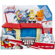 Transformers Rescue Bots Griffin Rock POLICE STATION, FIRE STATION ...