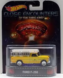 100 Ford F250 Utility Truck Hot Wheels 2015 Retro Entertainment CLOSE ENCOUNTERS FORD