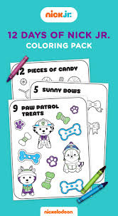 12 Days Of Nick Jr Coloring Book