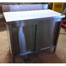meuble cuisine inox meuble de rangement adossé inox pour cuisine matériel de cuisine