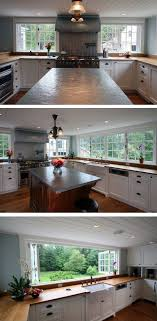 großes küchenfenster deko arbeitsplatte sichtschutz
