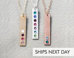 Vertical Birthstone Bar • Birth Month Gift • Jewelry For Mom • Vertical  Necklace • Grandmother Children Present • Swarovski Crystal • IBB_19 Silver Crystal Clear Swarovski Stone Stud Earrings Avnis Beadaholique Feed Your Need To Bead Code Promo August 2018 Store Deals Netflix Coupon Codes Chase 125 Dollars Wiouoi Birthstone Tree Necklace Crystal Family Gift Mom Name Grandma Mother Of Life 30 Off Coupons Discount Gold Mothers Day Small Minimalist Custom Buy Card Yesstyle Discount Code Free Shipping September 2019