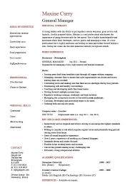 General Manager Resume CV Example Job Description Sample Management Business Operations Work