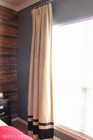 Thermal Lined Curtains Ikea by Customizing Ikea Curtains And A Diy Industrial Curtain Rod