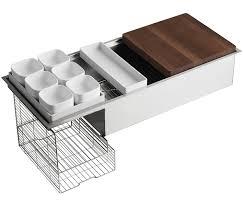 Kohler Kitchen Sink Protector by Kohler K 3761 Na Stages 45 Inch Stainless Steel Kitchen Sink