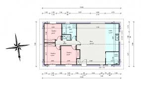 plan maison 90m2 plain pied 3 chambres plan maison 90m2 plain pied 1 systembase co
