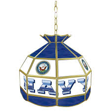 Home Depot Tiffany Lamp by Trademark 1 Light United States Navy Hanging Tiffany Lamp Mil1600