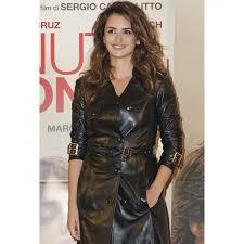 penelope cruz coat womens black leather coat