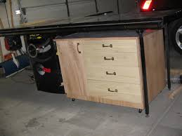 Sawstop Cabinet Saw Dimensions by Workshop Table Saw Storage Cabinet Buildsomething Com