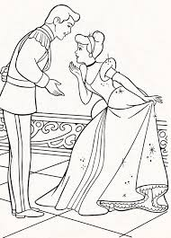 Disney Princess Coloring Pages Cinderella And Prince 1