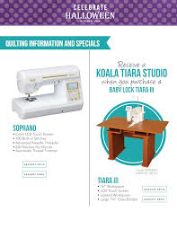 Koala Sewing Cabinet Dealers by Baby Lock October Specials Missouri Sewing Machine Company