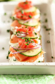 m fr canapes smoked salmon canapes with chive cheese the suburban