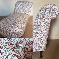 A Chaise Longue Upholstered In Floral Fabric And Deep ... Decorating Lovely Chaise Lounge Slipcover For More Living Room Oversized Round Chair Relaxing In Front Of Wondrous Red Indoor Victorian Style Farmhouse Accent Chairs Birch Lane Vintage Carved Swan Barrel Back And Tufted Dollhouse Fniture Boudoir Upholstered In Floral Print Sateen 1930s Or 1940s 1 Scale France Son Lighting Home Decor Small Blue Floral Chaiselongue Antique Rushseated Elegant White Leather With Bellas Gone This Cottage Chic Chaise Lounge Is Upholstered A Durable