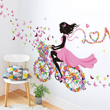 DIY Wall Decor Dancing Girl Art Stickers For Kids Rooms Home Bedroom Living Room Decoration Decals Poster In From