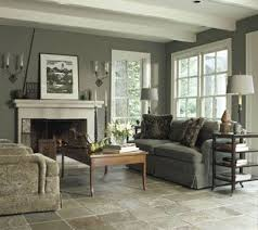Rough Cut Slate Tiles Give An Earthy Natural Look To The Living Room