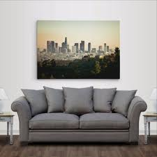 ready to hang los angeles city skyline gallery wrapped