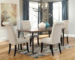 upholstered dining room chairs fabric set chair ideas table oval