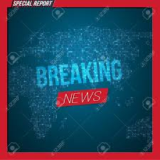 Illustration Of Breaking News Opener Broadcast Open Scene On Glowing Earth Planet Background Stock Vector