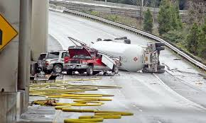Propane Truck Crash Closes Both Directions Of I-5 In Seattle ...