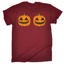 Rude Halloween Jokes For Adults by Halloween Pumpkin T Shirt Rude Evil Breast Joke Dead Funny