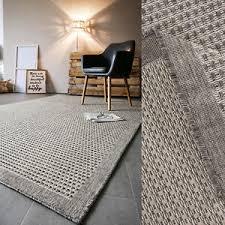 details zu teppich webteppich natur braun wohnzimmer esszimmer meliert bordüre
