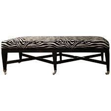 Sothebys Home Designer Furniture Swaim Zebra Print Long Bench