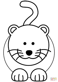 Click The Cartoon Cat Coloring Pages To View Printable Version Or Color It Online Compatible With IPad And Android Tablets