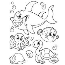 Creatures Of The Sea Coloring Pages