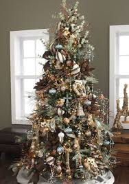 Rustic Theme Christmas Tree Themes Color In Decorations 17