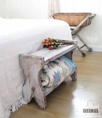 Diy Rustic Farmhouse Bench Tutorial Home Decor How To Painted Furniture