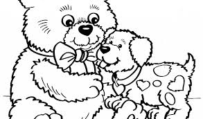 Dog And Bear Coloring Pages