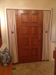 Sidelight Curtain Rods Tension by Front Door Curtains How To Diy Handmade Happiness Pinterest