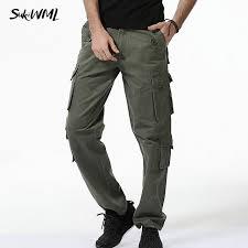 sukiwml cargo de 2017 nouveaux hommes pantalons multi poche