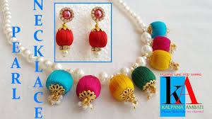 How To Make Pearl Bridal Necklace With Silk Thread Jhumkas ... How To Make Pearl Bridal Necklace With Silk Thread Jhumkas Quiled Paper Jhumka Indian Earrings Diy 36 Fun Jewelry Ideas Projects For Teens To Make Pearls Designer Jewellery Simple Yet Elegant Saree Kuchu Design At Home How Designer Earrings Home Simple And Double Coloured 3 Step Jhumkas In A Very Easy Silk Earring Bridal Art Creativity 128 Jhumka Multi Coloured Pom Poms Earring Making Jewellery Owl Holder Diy Frame With
