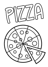 Pizza Coloring Pages Kids Printable