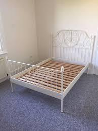 leirvik bed frame ikea leirvik bed frame 140x200cm in clapham gumtree