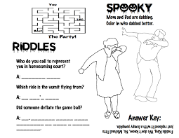 Scary Halloween Riddles And Answers by Halloween Bingo And Activity Page 2016 The Tulane Vignette