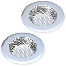 fengbao 2pcs kitchen sink strainer stainless steel large wide