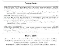 Resume Samples For Cooks Sample Cook Bunch Ideas Prep With Additional Example