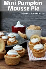 Easy Pumpkin Desserts by Mini Pumpkin Mousse Pie With Meringue Hoosier Homemade