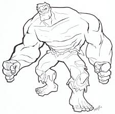 Hulk Coloring Page Free Printable Pages For Kids Picture