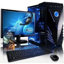 pc de bureau gaming vibox vision pack 2 pc gamer amd 2 radeon 8370d graphiques